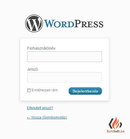 WordPress belépő, regisztráló oldal formázása - eredeti_wp_login-1