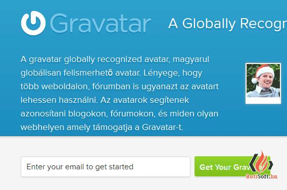 GRavatar regisztráció