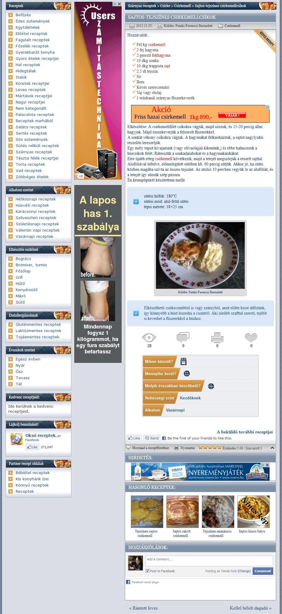 Olcso-receptek.hu - olcso-recept-receptlap