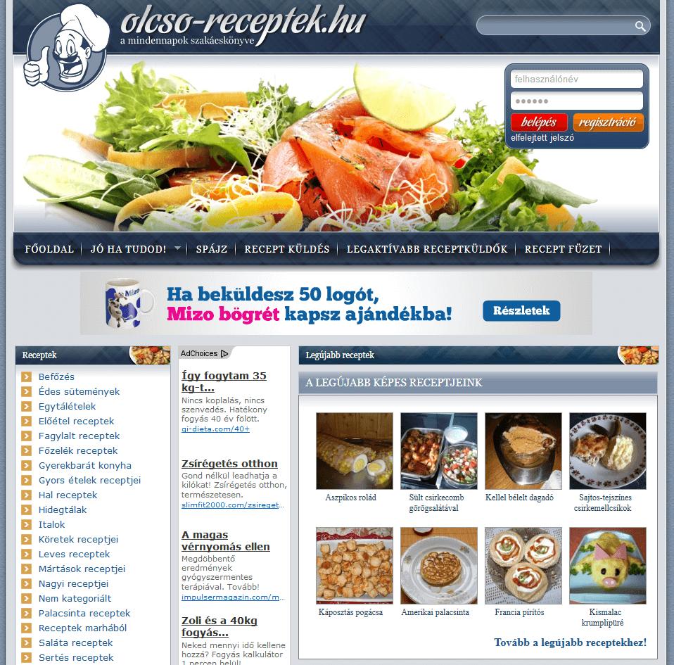 Olcso-receptek.hu - olcsorecept-kezdolap