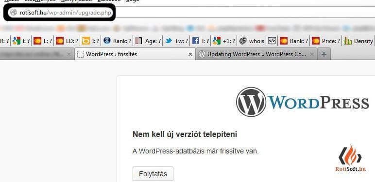 WordPress automatikus és kézi frissítése - wordpress-adatbazis-frissitvemar-e1358437440548-1