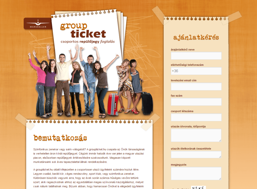 Groupticket.hu - groupticket-landingpage-felso