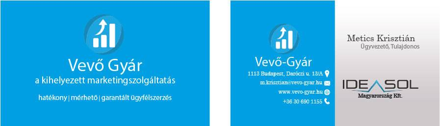 Vevő Gyár logo és névjegykártya - vevo-gyar-nevjegy-egybe