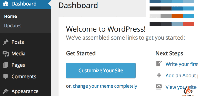 wordpress-admin-felulet