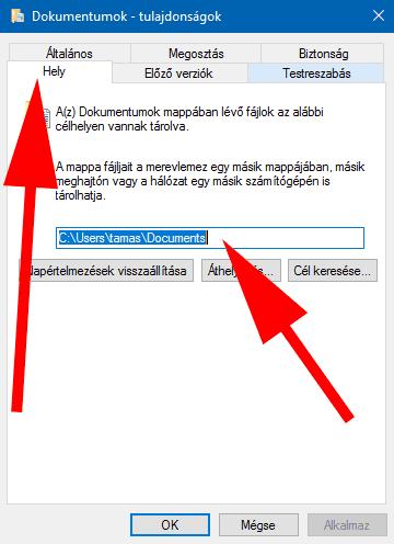 Dokumentumok mappa elérhetősége Windows 10-en - dokumentumok-elerhetoseg-2