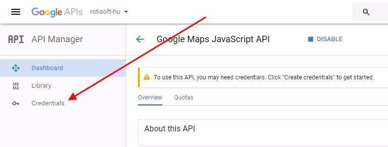 Google Maps API kulcs készítése - google-api-kulcs-keszites-rotisoft-05