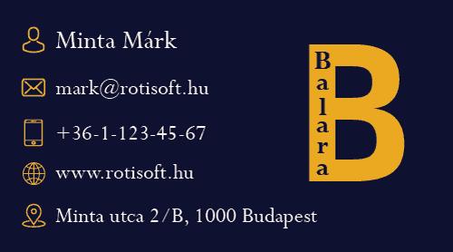 Balara logó és névjegy - balara-nevjegy-b-rotisoft-500x278