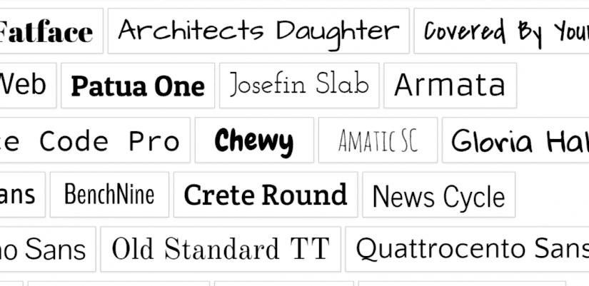 Google fonts betutipus ellenorzes