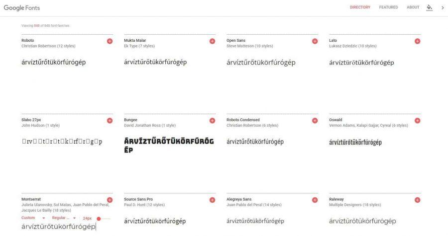 Hogyan ellenőrizd a Google Fonts betűtípust, karakterkészletet? - google-fonts-betutipus-teszt-900x475