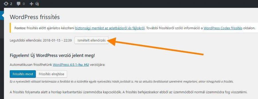 Frissítés után is megmaradó, WordPress frissítési értesítés eltüntetése - wordpress-ismetelt-frissites-jelzes-eltuntetese-rotisoft-900x348