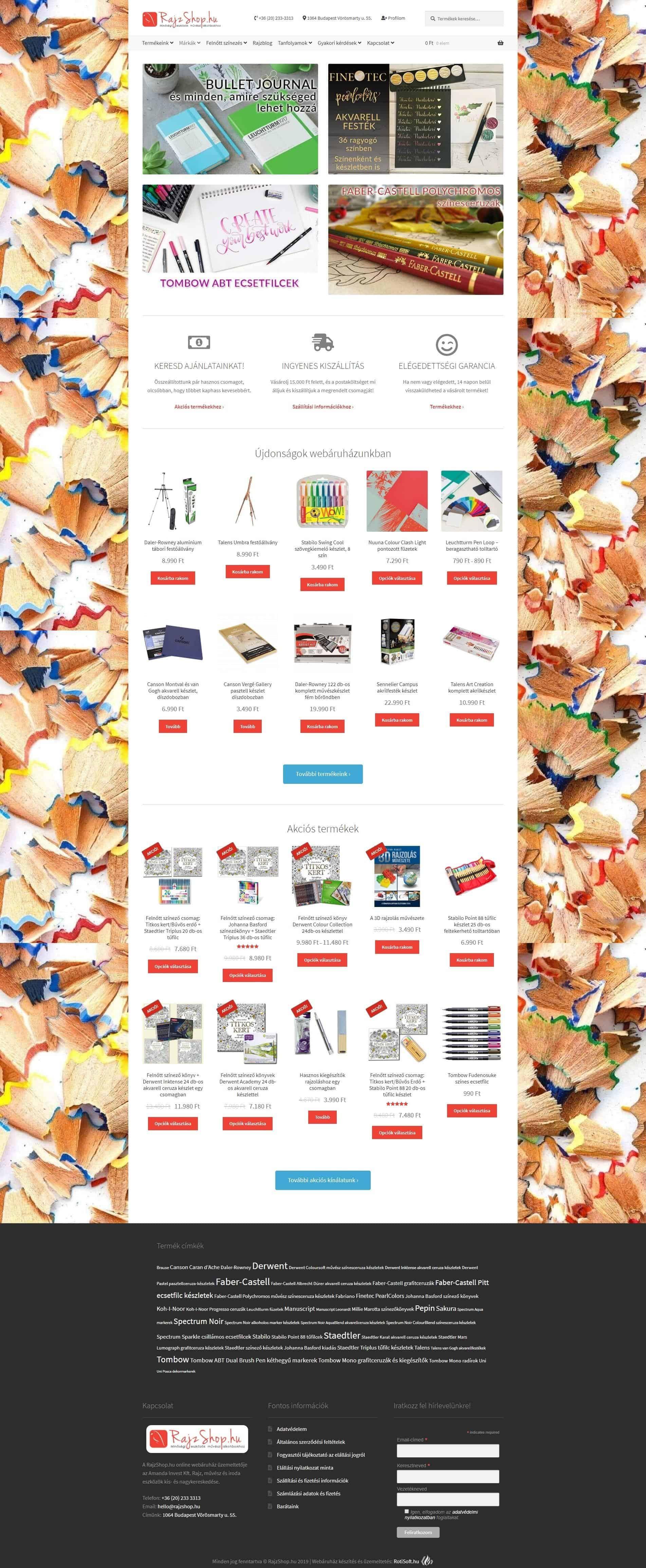 Rajzshop.hu webáruház - rajzhop-webaruhaz-pc