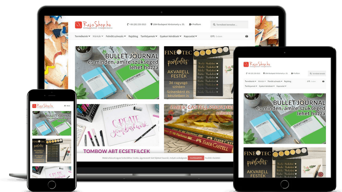 Rajzshop.hu webáruház - rajzshop-mockup